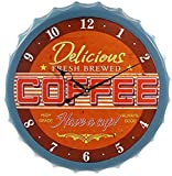 Wanduhr Kronkorken Coffee 33cm