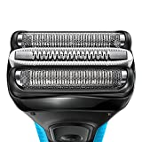 Braun Series 3 ProSkin 3040s Rechargeable Cordless Wet and Dry Electric Shaver/Razor for Men with Pop-Up Trimmer - Blue