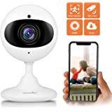 Wansview WLAN IP Kamera 1080P HD, Cloud Überwachungskamera als Baby/Ältere/Haustiere Monitor, mit Bewegungserkennung, Zwei-Wege Audio, Nachtsicht Funktion K3 Weiß 【Aktualisierte Version】