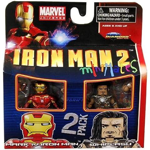 Marvel Minimates Series 35Mini figura 2Pack Iron Man Mark Iv & Whiplash