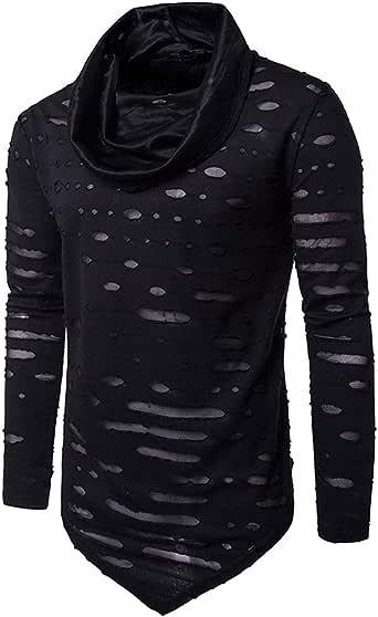 RobertFair Mens Hooded Sweatshirt Long Sleeved Sweater Mans Casual Pullover