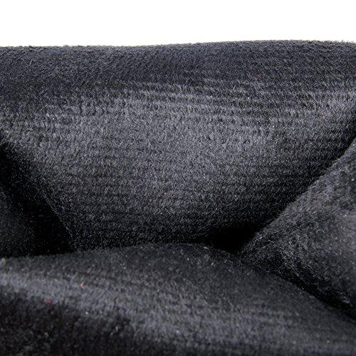 BIGTREE Bottes Cuissardes Femme Talons hauts PU Cuir Casual Bloc Automne Hiver Plateforme Bottes Hautes De Noir-PU