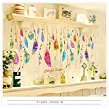 Kingko® Feather Wall Sticker Classic Dream Catcher Sofa Art Decal Mural Lucky Room Decor