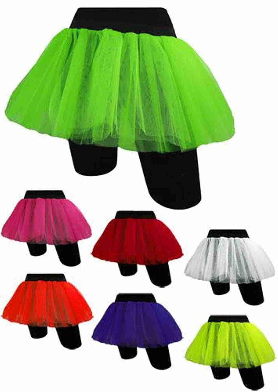 Tutu Neon Skirt Blue Pink Yellow 80s Night Fancy Dress TUTU UK 8 16 BRIGHT PURPLE By Star55 Amazoncouk Toys Games