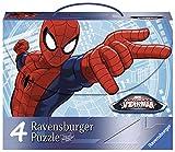 Ravensburger 07262 - Valigetta con 4 Puzzle Ultimate Spiderman