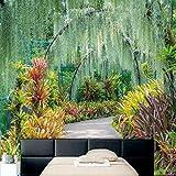WH-PORP Idyllische Garten Grün Naturlandschaft 3D Wandbild Schlafzimmer Wohnzimmer Sofa TV Hintergrund 3D Tapete nach Maß Restaurant-350cmX245cm