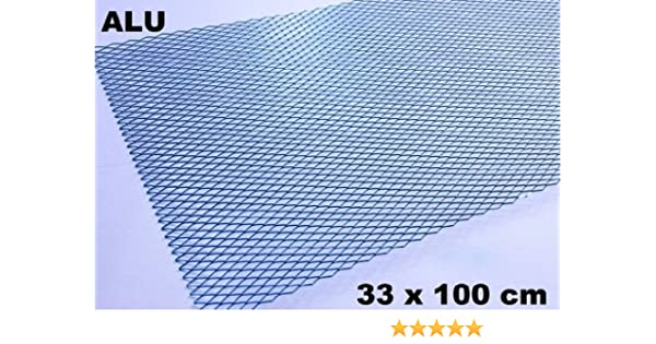 Alu Renngitter Racinggitter Tuning Gitter 33 x 100 cm Silber Aluminium neu