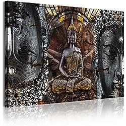 DekoArte Cuadro con Diseño Zen-Feng Shui Buda, Tela, Multicolor, 120x3x80 cm