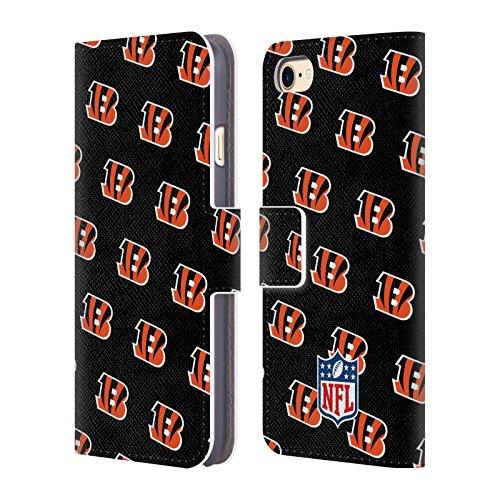 Ufficiale NFL LED 2017/18 Cincinnati Bengals Cover a portafoglio in pelle per Apple iPhone 4 / 4S Pattern