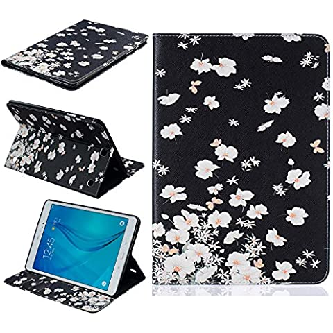 Custodia per Samsung Galaxy Tab A 9.7,Cozy Hut Samsung Galaxy Tab A 9.7 T550 Custodia fashion Cute Synthetic PU Pelle Stand Custodia Cover Leather Flip Holder Leather Custodia Cover per Samsung Galaxy Tab A 9.7 T550 - gelsomino