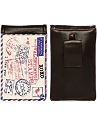 Nutcase Designer Travel Waist Mobile Pouch Bag For Men, Fanny Pack With Belt Loop & Neck Strap-High Quality PU... - B075N6Z7Q4