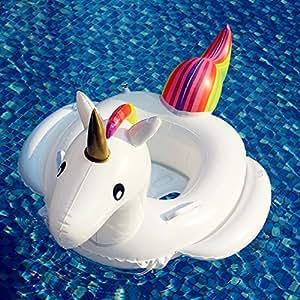Unicorno gonfiabile galleggiante salvagente bambini anello anulare pvc in piscina e in mare - Unicorno gonfiabile piscina ...