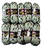 Himalaya Rosi 10x 50g Laine tampons, 500g laine bicolore à tricoter Grau Schwarz 81207