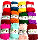 #6: Lovely Arts Collection's 12 Small Size Rainbow Colour Wool ball Knitting yarn, Crochet Yarn, Craft wool yarn