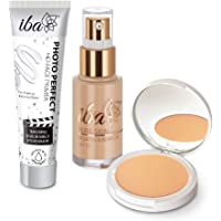 Iba Primer + Foundation + Compact Combo, Natural Beige, 30 millilitre