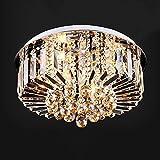 JU Deckenleuchte Europäische Luxus Kristall Deckenleuchte Runde Kristall Lampe Wohnzimmer Lampe Schlafzimmer Restaurant Führte Kristall Deckenleuchte Fernbedienung Lampe,50 * 29cm
