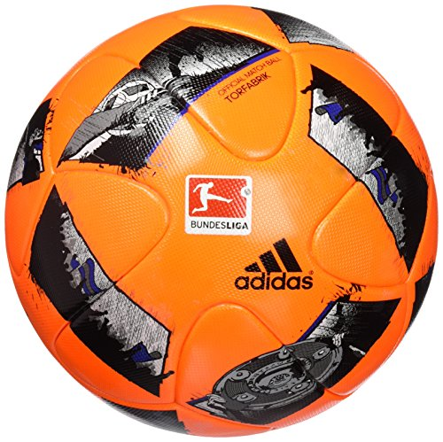 adidas DFL Winter Fußball, Solar Orange/Blue/Black, 5