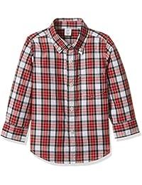 GAP Boys Allover Plaid Shirt