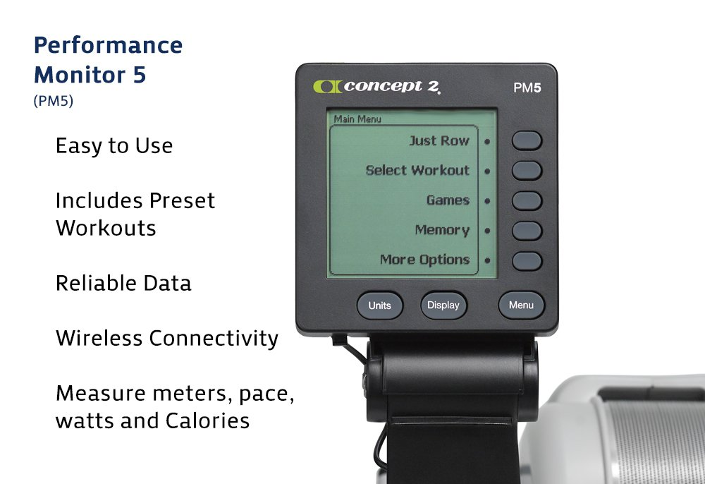 61h0PKwmSRL - Concept 2 Model D Indoor Rower with PM5 Monitor