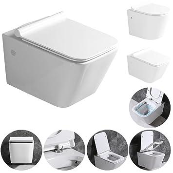 Sehr Gut Sanlingo Keramik Wand Hänge WC Toilette Spülrandlos Softclose Weiß  DX08