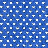 Classic Hearts 0,5 cm, 10 — Meterware ab 0,5 m — Oeko-Tex Standard 100 — zum Nähen von Bekleidung, Kissen und Tagesdecken und Tischdekorationen