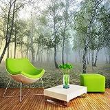 HNSD 3D foto verde foresta natura paesaggio murales soggiorno TV divano studio sfondo ansimando carta 3D stanza Parede 350X250cm