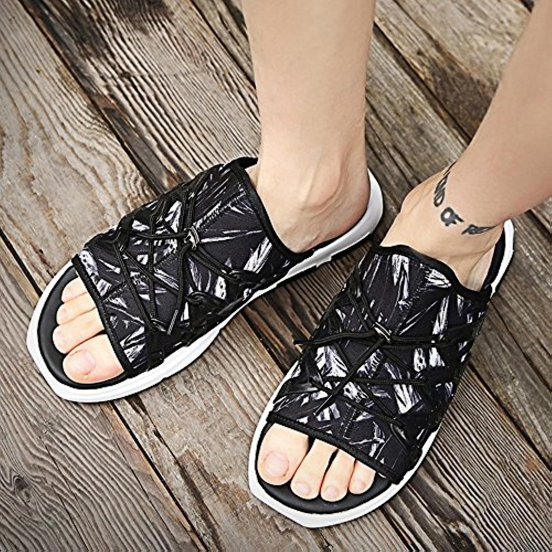 YQQ Strand Hausschuhe Sandalen Mode Schuhe Männer Schuhe Lässige Schuhe Ferienschuhe Männlich Jugend Sommer Rutschfest