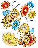 """1 Bogen: Fensterbild - """" lustige Tiere """" - statisch haftend - Frosch - Blumen - Bienen - Schmetterling - Sticker Fenstersticker / z.B. für Fenster und Spiegel - Aufkleber selbstklebend wiederverwendbar - Fensterfolie Fensterdeko"""