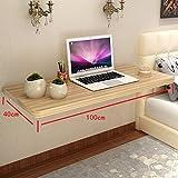YANFEI an der Wand befestigter Holztisch, der rechteckige Küche und Speisetische-Schreibtisch-Frühstücks-Tabelle faltet (Größe : 100 * 40CM)