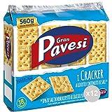 Pavesi Set 12 Crackers gran non salati azzurro gr 560 snack salato