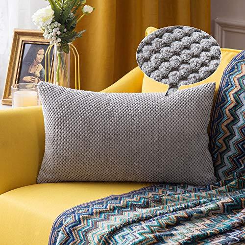 MIULEE 1 Stück Granulat Kissenbezug Ananas Weiches Massiv Dekorativen Quadratisch Überwurf Kissenbezüge Kissen für Sofa Schlafzimmer Auto 12