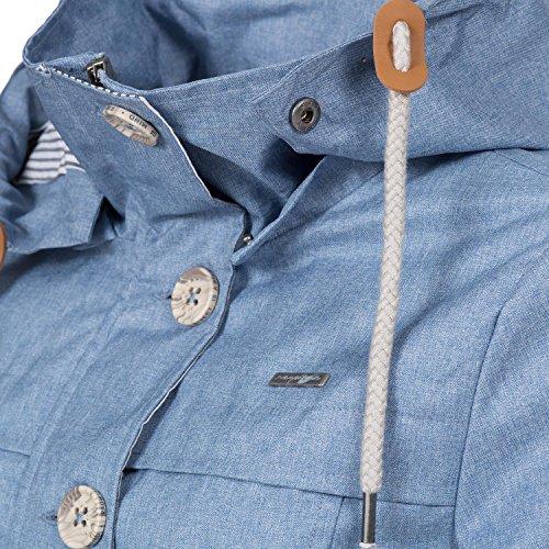 Ragwear Damen Übergangs-Jacke Like You (vegan hergestellt) Hellblau Gr. M - 5