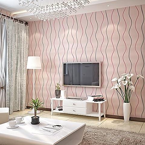 VanMe Moderne Und Minimalistische Streifen Non-Woven-Gewebe Wasser Ripple Curve Waves Wallpaper Tv Sofa Schlafzimmer Hintergrund Wallpaper