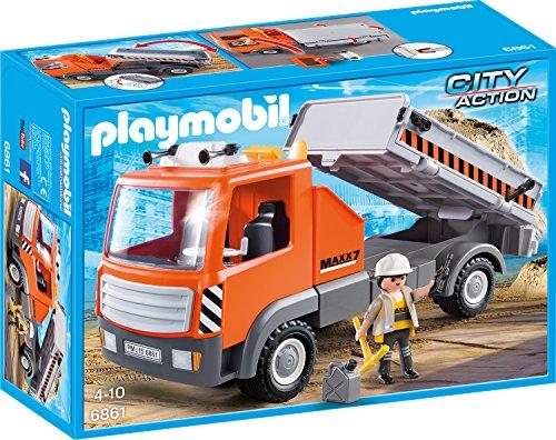 PLAYMOBIL 6861 - Baustellen-LKW, Spielwerkzeug thumbnail