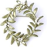 MHKJ Elegante de la Mujer Garland Broche Flor de Flor de la Vendimia Pin Ropa Decoración Accesorios de joyería