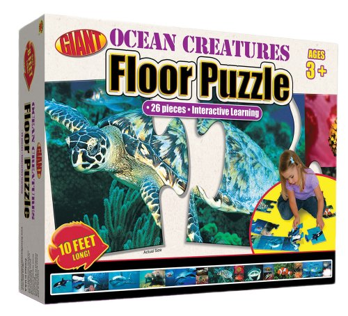 Ocean Creatures Floor Puzzle: 26 Pieces - Interactive Learning (Brighter Child Giant Floor Puzzles) -