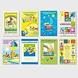 50 Glückwunschkarten zur Kommunion Wünsche Bunt Motive Grußkarten 120-3014
