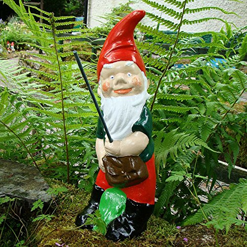 Pixieland FISHING GNOME ~ ALBERT ~ LARGE STANDING FISHERMAN