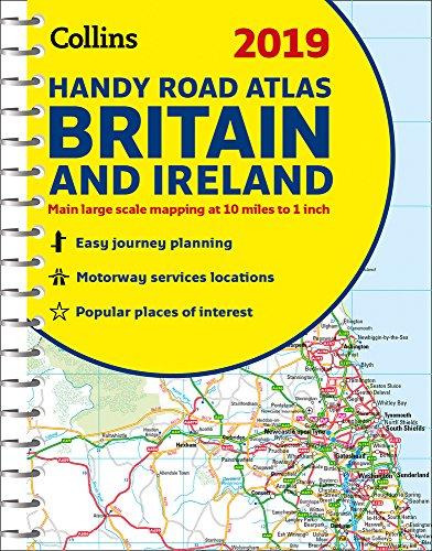 2019 Collins Handy Road Atlas Britain and Ireland (Collins Road Atlas) - England Map Road New