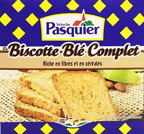 Pasquier Biscottes au blé complet 2 sachets fraîcheur de 18 biscottes 300 g