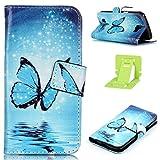 LG K4 Leder Tasche,LG K4 Hülle,Ekakashop Retro Design