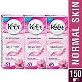 Veet Silk and Fresh Hair Removal Cream - 50 g (Normal Skin, Buy 2 Get 1 Free)