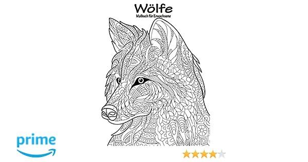 Wölfe Malbuch Für Erwachsene 1 Amazon De Nick Snels Bã Cher