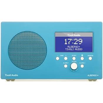 Tivoli Audio Albergo+ Radio-Réveil DAB avec Bluetooth Bleu Brillant