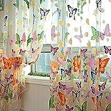 Hemore farfalla Fiori tende tendine garza tulle finestra tenda 100x 200cm