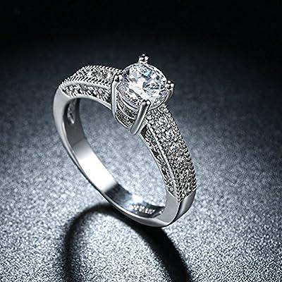 karatcart Platinum Plated Austrian Crystal Ring for Women(Silver)