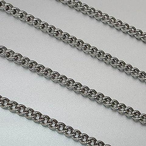 Chaîne Ø 0,6mm Chaîne Chaîne 1M soudé au laser, Très stable, brillant d'ornement en acier inoxydable