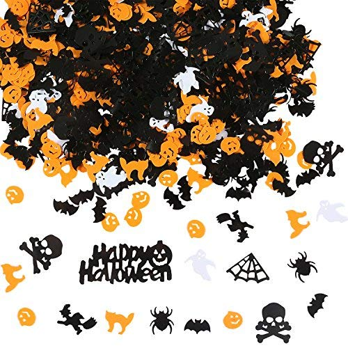 loween Confetti Spinne Hexe Kürbis Katze Ghost Bat Skelett spritzt Tisch Konfett Halloween Nacht Party Dekoration ()