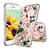 MOSNOVO iPhone 6 Hülle, iPhone 6s Case, Blossom Blühen Blumen Flower Muster Transparent TPU Bumper mit Hart Plastik Durchsichtige Schutzhülle für Apple iPhone 6 6s (4,7 Zoll) (Magnolia)