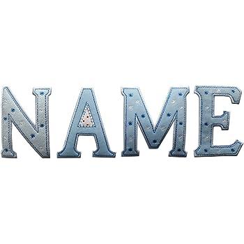 TrickyBoo 5 Buchstaben Aufb/ügler 9cm 2 rosa Buchstaben Kinder ABC Name Aufb/ügler personalisiert
